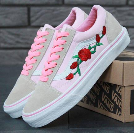 Кеды Vans Old Skool Pink Roses, vans old school, ванс олд скул, кеды венс, фото 2