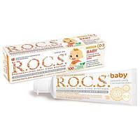 """ROCS. Детская зубная паста """"Нежный уход с  экстрактом Айвы"""", от 0 до 3 лет,  45 гр (473648)"""