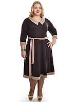 Коричневое платье классика большего размера