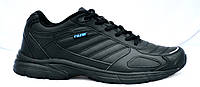 АКЦИЯ! Кроссовки из натуральной кожи, черные. Размеры 36, 37, 38, 41, 42, 43, 44, 45, 46, 47, 48, 49.