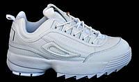 Кроссовки из натуральной кожи, белые. Размеры 36, 37, 38, 39, 40. Restime XWO18106.