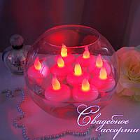 Плавающие электронные (светодиодные) свечи красные