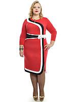 Красное платье большего размера 48-62, фото 1