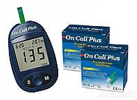 Глюкометр Acon On-Call Plus + тест-полоски 100 шт.