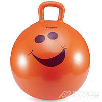 Детский фитбол с ручкой LiveUp Hopping Ball, диам. 45 см, оранжевый