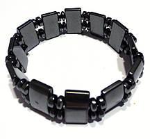 Гематит натуральный, браслет, 299БРГ