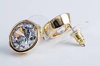 30230 Серьги из меди, покрытой золотом 24 карата