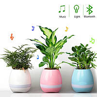 Мобильная колонка SPS Musik Pots \ Plant +BT, Музыкальная колонка цветочный горшок, Беспроводная колонка