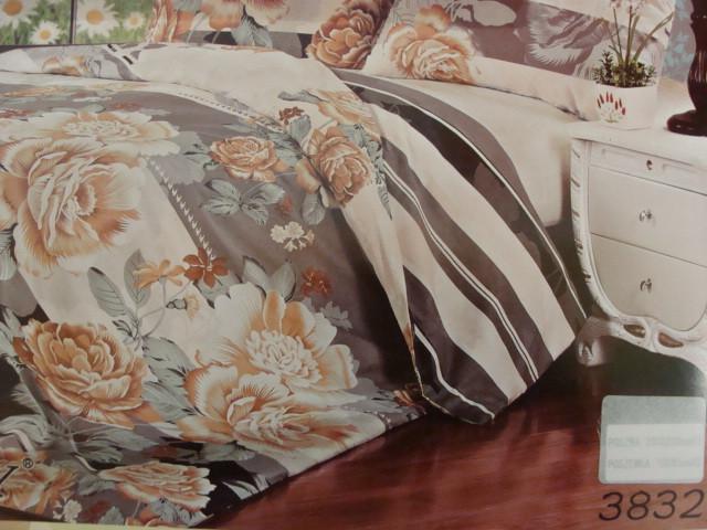 Сатиновое постельное белье семейное ELWAY 3832