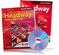 New Headway Elementary, Student's book + Workbook + CD / Учебник + Тетрадь английского языка