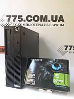Игровой компьютер Lenovo M70E DT, Intel Core2Quad Q6600 2.5GHz, RAM 4ГБ, HDD 320ГБ, GeForce GT730 2ГБ, фото 1