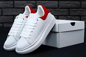Кроссовки Alexander McQueen White Red