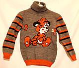 """Дитячий в'язаний светр """"Тигреня"""" для хлопчика, фото 3"""