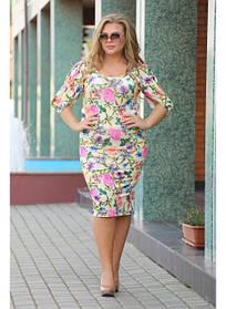 Женское весенее платье Мисс цветы / размер 48-72