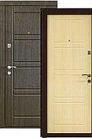 """Входная бронированная дверь: Двухцветная модель """"Кордон"""" Оптима++,цвет Графит/Ясень, фото 1"""