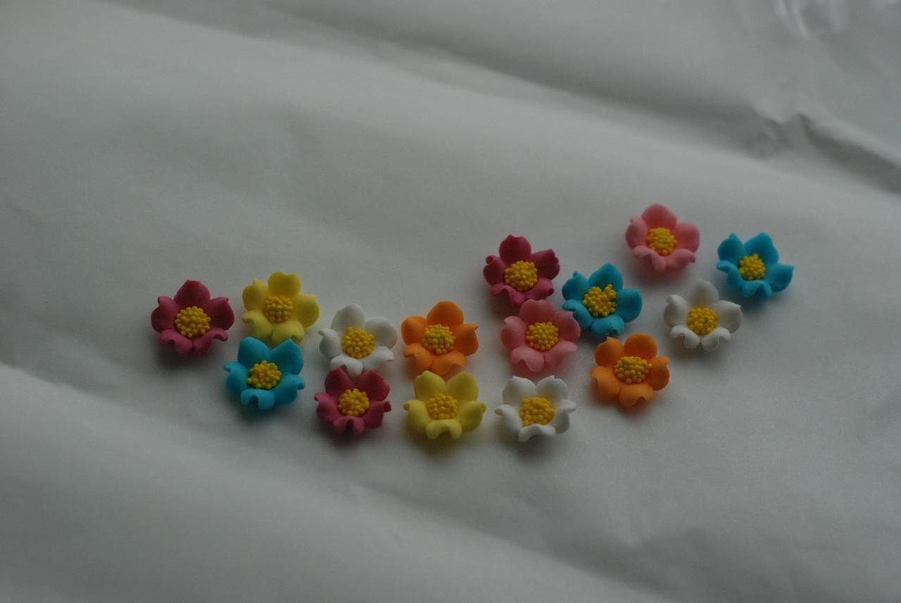 Декор кондитерський Добрик Набір Польові квіти (мікс) 36 шт./ящ.