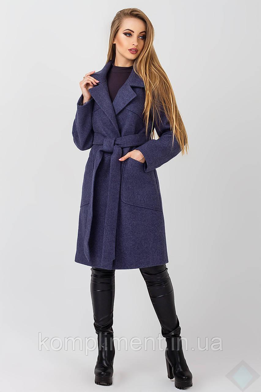 Пальто осеннее женское Кипр, джинс, фото 1