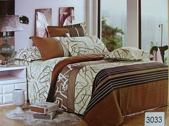 Сатиновое постельное белье семейное ELWAY 3033