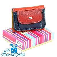 Женский маленький кожаный кошелёк Dr. Bond WRS-7 red (серия Rainbow), фото 1