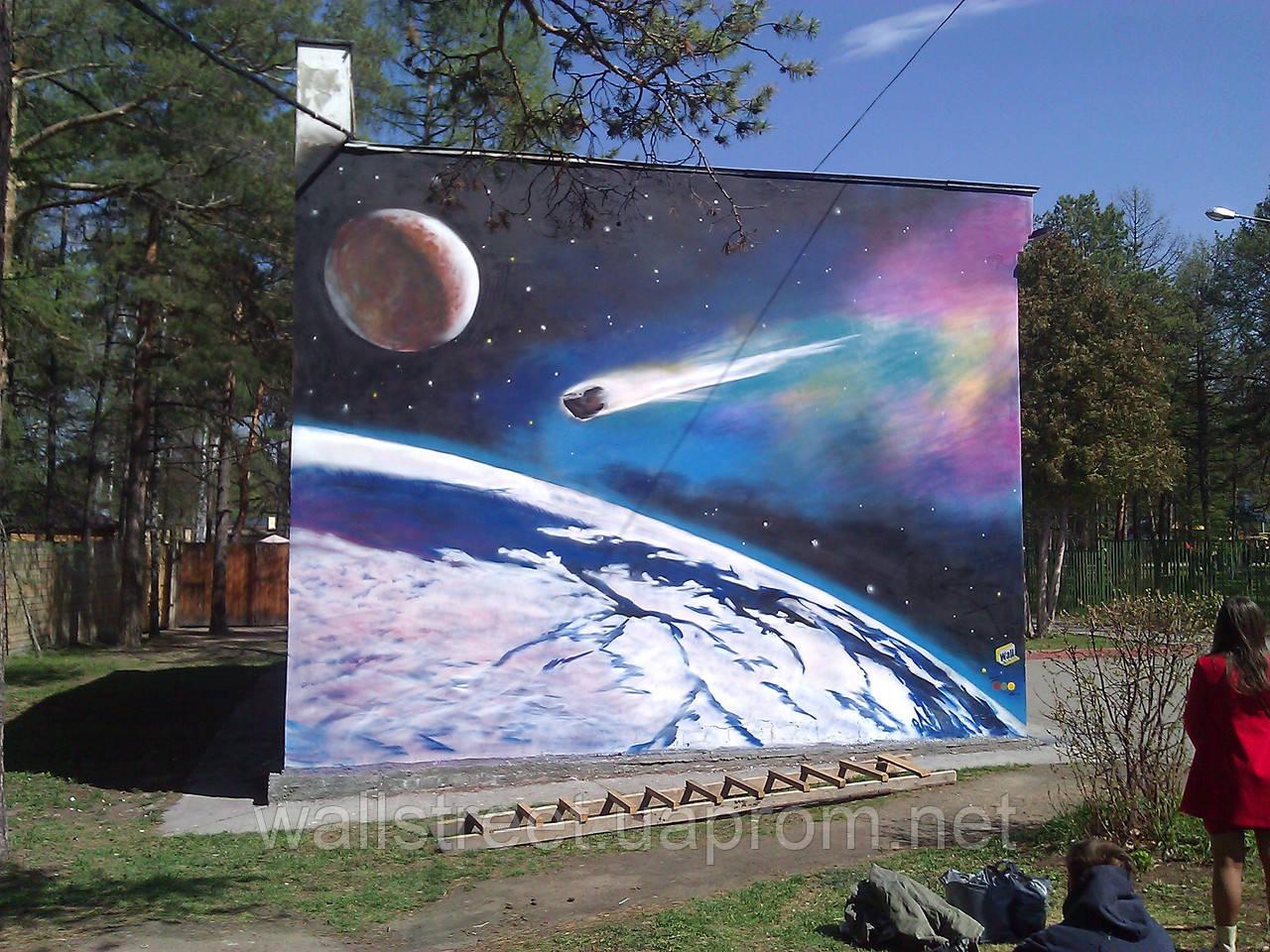 Граффити рисунок на стене