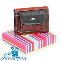 Женский маленький кожаный кошелёк Dr. Bond WRS-7 black (серия Rainbow), фото 1