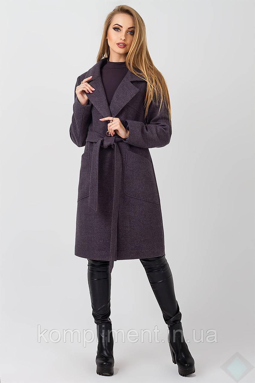 Пальто осеннее женское Кипр, темно серый
