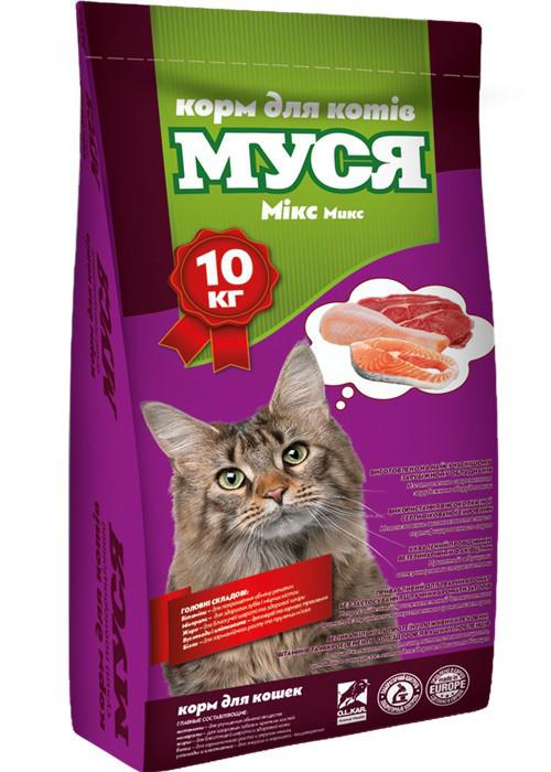 Сухой корм для кошек Муся микс 10 кг