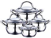 Набор посуды Bergner Gourmet 8 предметов