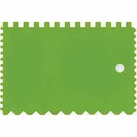 Шпатель для клея пластмассовый 90х130 мм зубчатый Сибртех 86017