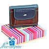 Женский маленький кожаный кошелёк Dr. Bond WRS-7 red (серия Rainbow)