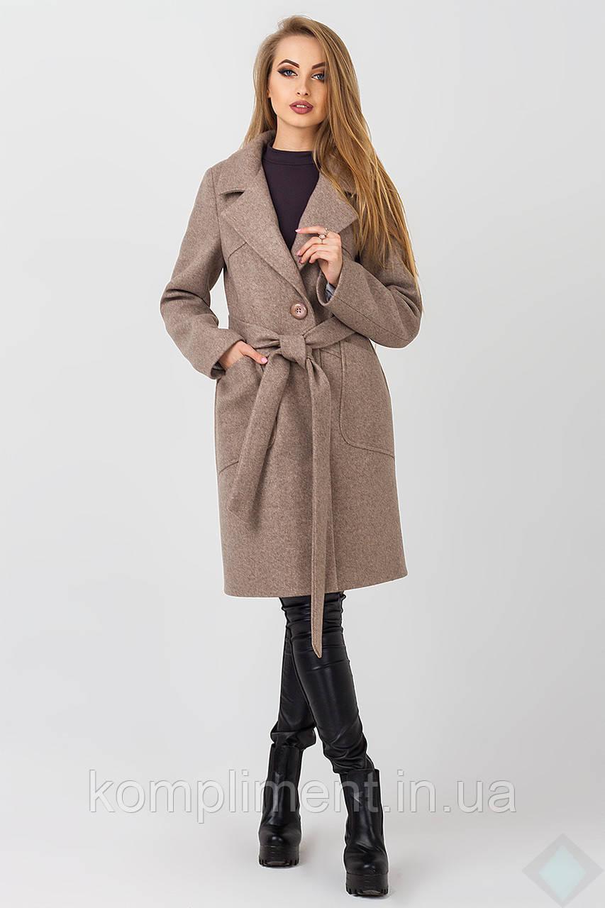 Пальто осеннее женское Кипр, мокко