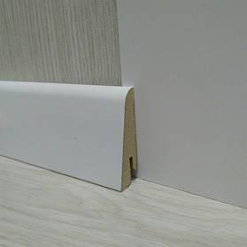 Плинтус МДФ белый напольный 17х58х2400мм., Pedross Италия