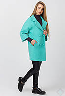 Элегантное женское пальто Неаполь, мята, фото 1