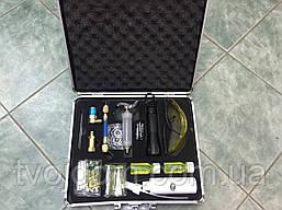Набор для обнаружения утечек  LX1046 (очки,фонарик,флуоресцент,муфта заправочная) кейс (Китай)