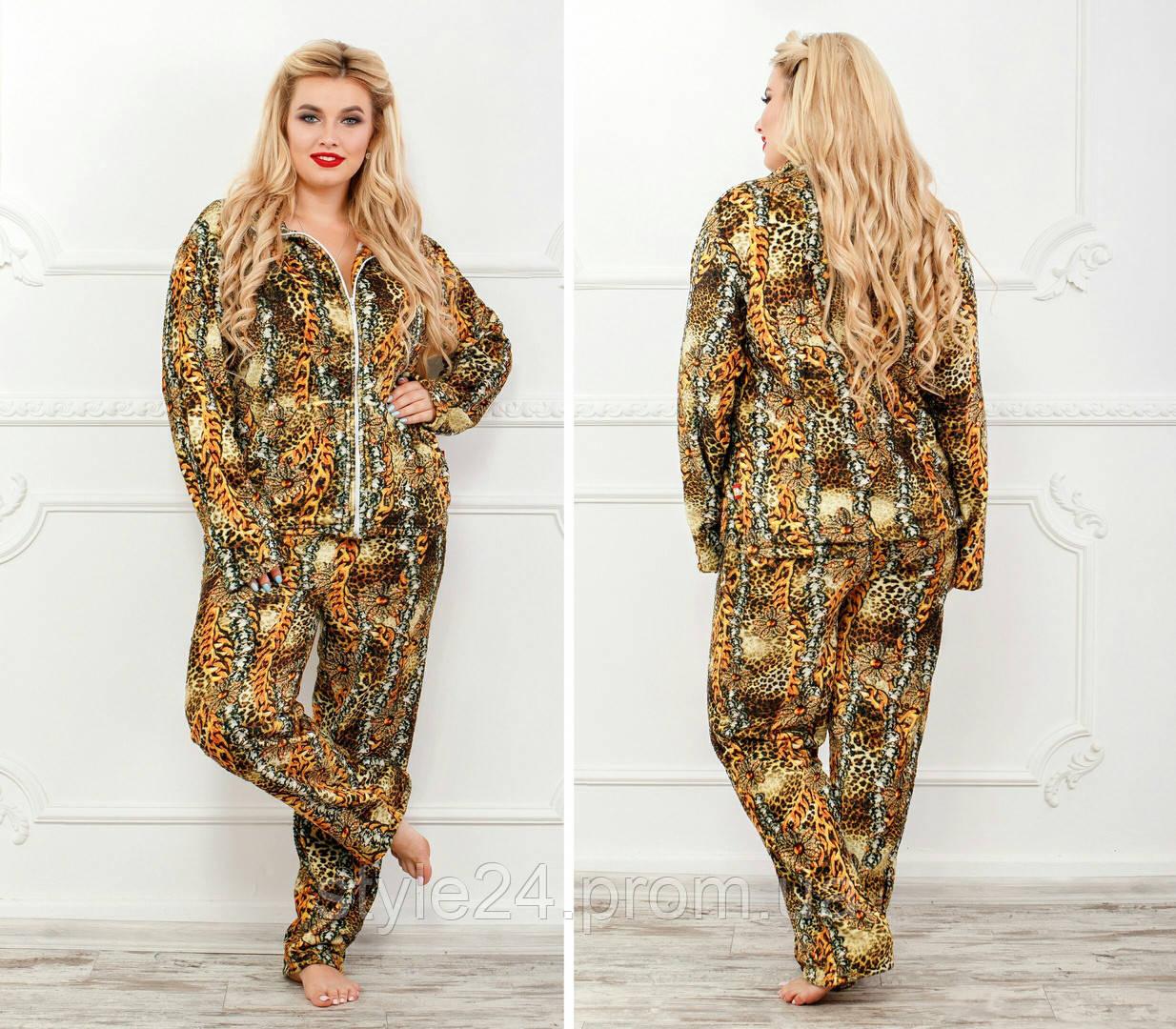 Жіночий   махровий костюм-піжама  .Р-р  50-52