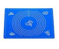 Силиконовый коврик 64х45 см для раскатки теста, коврик для запекания,  коврик для теста с разметкой