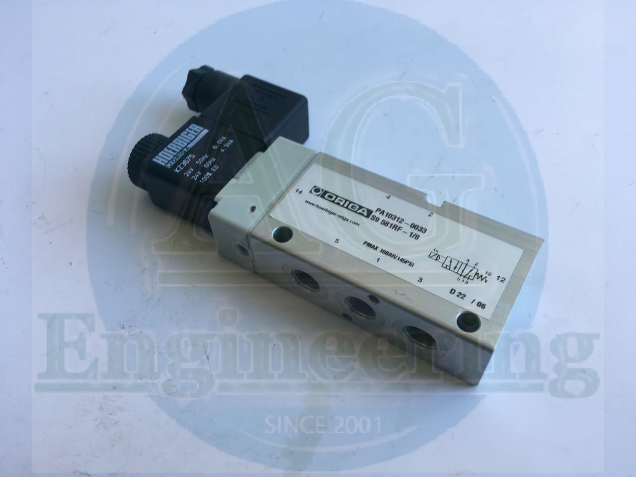 Клапан ORIGA 5/2 ходовой клапан с пружинным возвратом 3959 (GLS), H00246