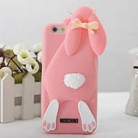 Силиконовый чехол Moschino Violetta Rabbit Светло розовый для iPhone 6 / 6s