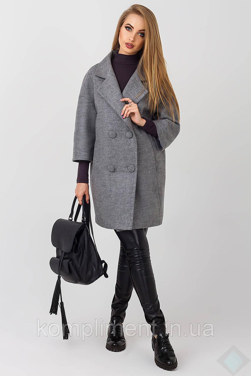 Элегантное женское пальто Неаполь, серый