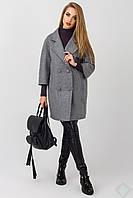 Элегантное женское пальто Неаполь, серый, фото 1