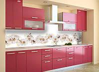 Кухонный фартук Цветы вишни (ПВХ пленка самоклеющаяся скинали для кухни) 600*2500 мм