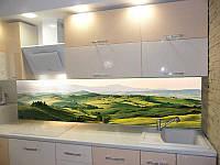Кухонный фартук Долина (ПВХ пленка самоклеющаяся скинали для кухни) 600*2500 мм