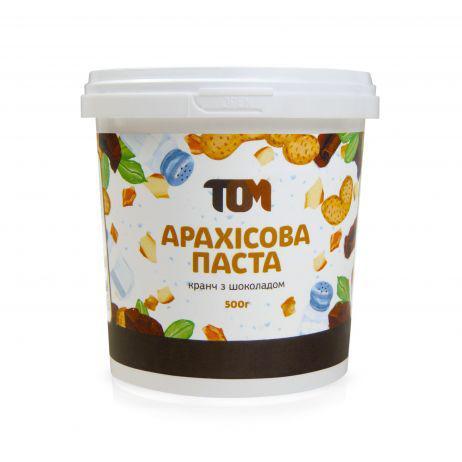 Арахисовая паста кранч с шоколадом 500 грамм