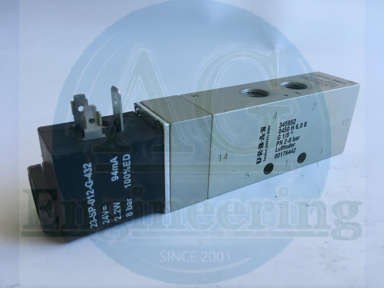 """Клапан URBAN 5/2, 1/8""""  V60A517A-D223L Wegeschieberv., 345952"""