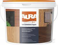 Aura Colorwood Aqua 9 л, орех - Пропитка на основе алкидной смолы с антисептиком