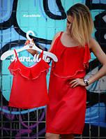 Шифоновые платья с воланом для мамы и дочки