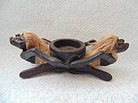 Статуэтка деревянная пепельница Папуасы