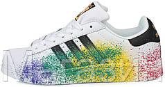 Мужские кроссовки Adidas Superstar Supercolor PW Адидас Суперстар белые