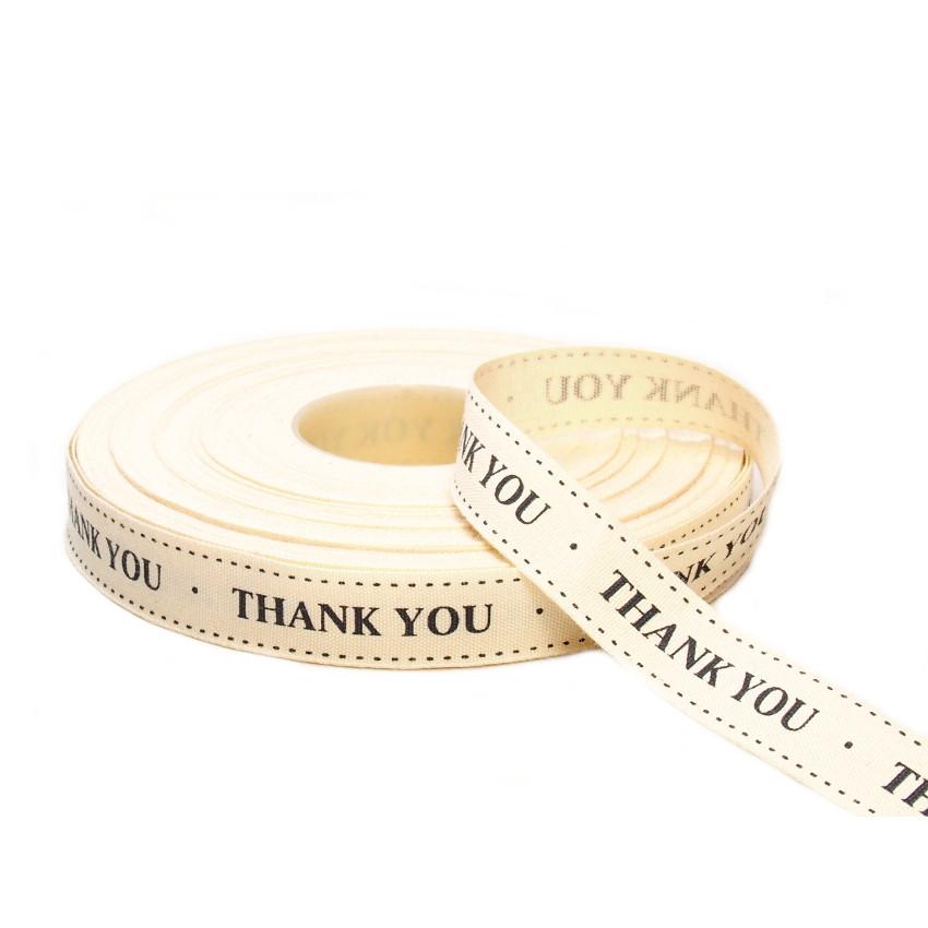 Хлопковая лента Thank You (15 мм)