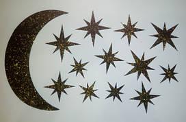 Звездное небо Декор из жидк. обоев, 6 цветов